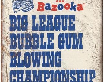 "Joe Garagiola Bazooka Big League Bubble Gum 10"" X 7"" Reproduction Metal Sign N91"