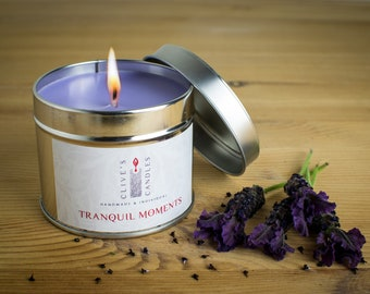 Lavender & Geranium (Tranquil Moments) Candle In A Tin