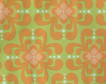Michael Miller Geometric in Peach, SH3749, Geometric, Light Green, Orange
