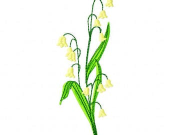 Lily of the Valley Embroidery Design - Instant Download