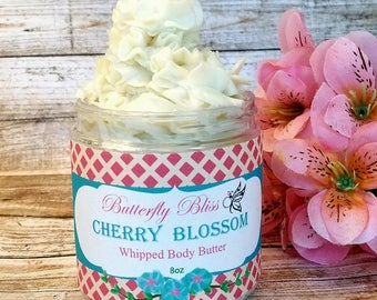 whipped body butter | natural body | cherry blossom body butter | natural lotion | body butter | organic lotion | paraben free lotion