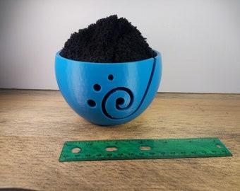 Spiral Front Yarn Bowl - Yarn Caddy - Yarn Holder 3D Printed | knitting bowl crochet bowl knitting yarn bowls yarn organizer