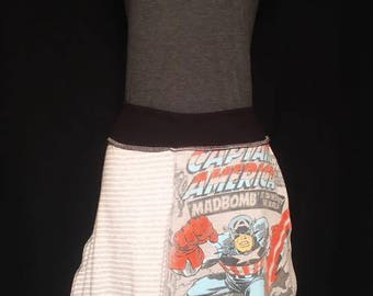 Captain America up cycled skirt