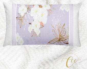Floral Lilac Cushion Pillow Cover,Throw Pillow Cushion Cover, Decorative Pillow Cushion Home Decor