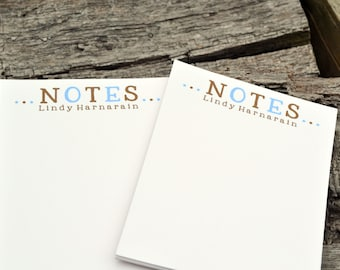 Personalized Notepads / Personalized Note Pads / Note Pads / Journal / Personalized Notebook /Set of 2 Notes Design