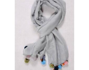 Plain scarf grey scarf