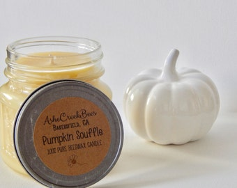 Pumpkin Souffle Scented 100% Pure Filtered Beeswax Candle