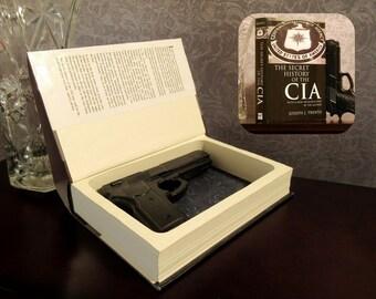 Hollow Book Gun Safe - The Secret History of the CIA - Secret Book Safe
