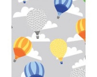 Big City Friends from Wilmington Prints - Hot Air Balloons Gray (1876 69278 974) - 1 Yard
