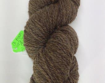 Hand Spun 100% Huacaya Alpaca Natural Brown