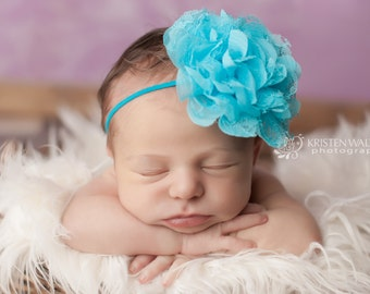 Blue Headbands, Baby Headband, Newborn Headbands, Blue Baby Headbands, Baby Girl Headband, Photography Prop