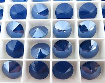4 Royal Blue Swarovski  Rivoli Stone 1122 12mm