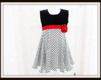 Girls Sewing Pattern Dress ,INSTANT DOWNLOAD, Pdf Pattern, Vintage Style, Rosette Dress, Childrens Dress Sewing Pattern