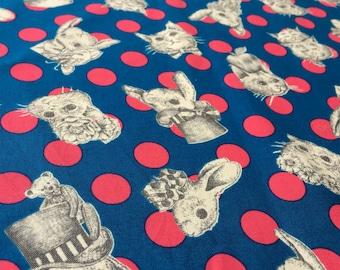 jolifleur [Wonderdrop] Blue    Japanese Fabric   Cotton100%   Dots
