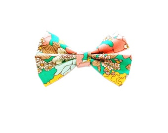 Baby Hair Bow / Floral Hair Bow / Floral Bow Tie / Toddler Bow Tie / Clip on Bow Tie / Baby Bow / Baby Shower Gift / Family Photo