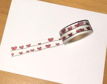 Hearts on a Line Washi Tape WT1029HOL