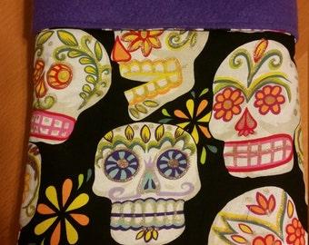 Colorful Sugar Skull, Day of the Dead, Calaveras, Baby Blanket