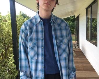 Genuine vintage heavy-cotton Levi's plaid shirt