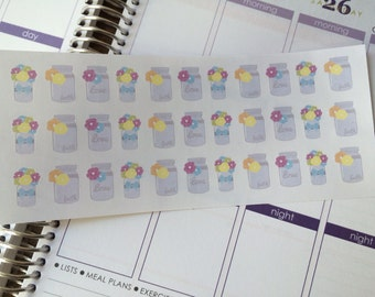 Planner Stickers Mason Jar Stickers Fits Erin Condren Stickers Fits Most Planners Cute Stickers