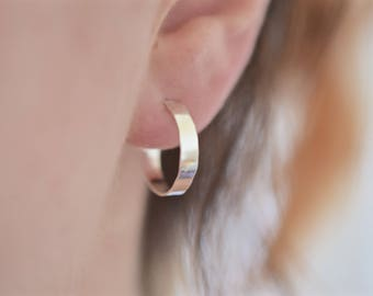 Wide Hoop Earrings | Thick Hoop Earrings | Gift For Her |Mother's Day Gift