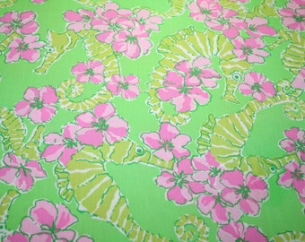 """Lilly Pulitzer fabric ~LIMEADE FLOATER~ 18"""" by 18""""~ 100% Dobby Cotton"""