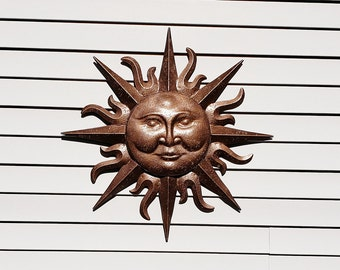 Metal Garden Decor Metal Sun Wall Art Indoor Outdoor Wall Art Metal Sun  Decor Garden Tribal Mask Wall Decor Wall Hanging Wall Decor