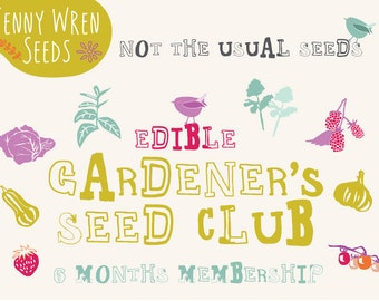 Club, Unusual Garden Seed of the Month Club MEMBERSHIP - Seed Packets Shipped Monthly - Unusual Edibles