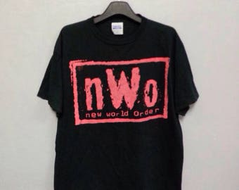 Rare!! Vintage New World Order Big Logo T Shirt Large Size