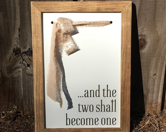 Farmhouse Frames With a Twist '...and the two shall become one'