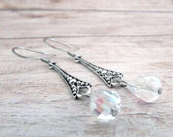 Art Deco Crystal Earrings - Vintage Style Earrings - Girlfriend Gifts Under 15 - Vintage Gifts for Her - Everyday Earrings - Hypoallergenic