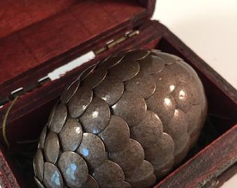Dragon Egg with Box - Dragon Egg with Chest - Dragon Egg Decor - GoT Dragon Egg - BROWN - Regal Style Box