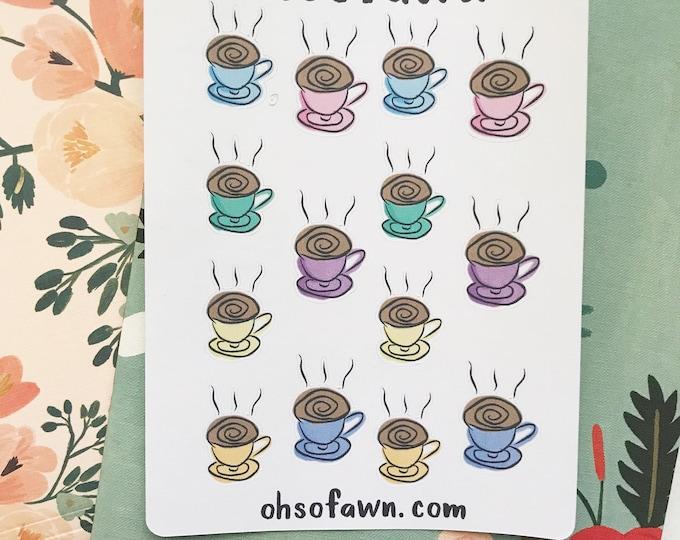 Hand Drawn Coffee Stickers
