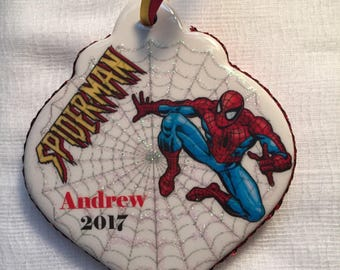 Marvel Spiderman personalized Christmas ornament