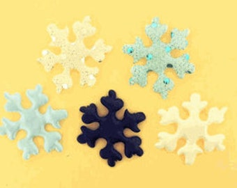 Padded Large Snow Flake (Choose from 5 Colors or mixed colors) - 50 Pieces