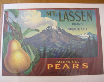 2 Vintage Fruit Crate Labels NIP Fruit Growers 1900s to 1938 Art Graphics Prints Advertising Art