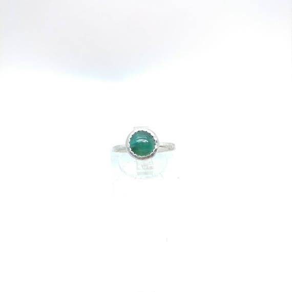 Simple Tourmaline Ring | Blue Tourmaline Ring | Sterling Silver Ring Sz 6.25 |  Ring of Spirit & Peace | Blue Green Tourmaline Jewelry