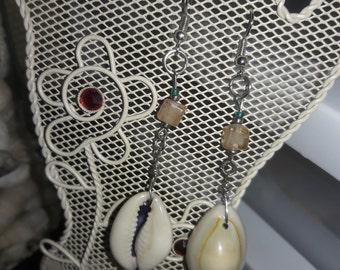 Beaded shell earrings