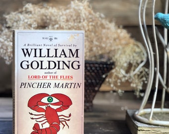 Vintage book classic William Golding (author of Lord of the Flies) Pincher Martin, paperback, literature, survival story, novel