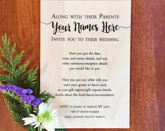 40 x FREE Plywood Wedding Invitations