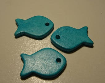 Ceramic fish bead