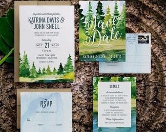 boho rustic wedding invitation, rustic invite set, diy rustic wedding invitation, bohemian rustic wedding invitations, rustic save the dates