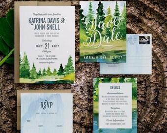 boho rustic wedding invitation, rustic invite set, diy rustic wedding invitation, bohemian rustic wedding invitations, rustic save the dates