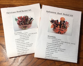 Choice of a Halloween Basket Kit or a Christmas Basket Kit in One Inch Scale by Carl Bronsdon
