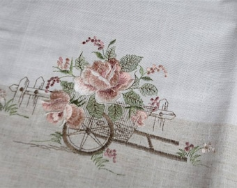 Pink embroidered table Center