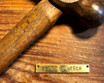 TRUST NO WITCH Necklace