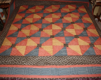 "Quilt  ""Rusty Gate"""
