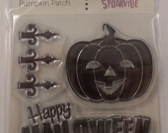 Clear Stamps Happy Halloween Cling Rubber Stamp Set