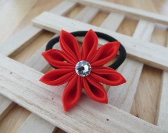 Assorted Ties and Elastics-Hair Accessories–Rubber band-Hair Ties-Hair Elastics-Kanzashi Flower-Kanzashi-Women's Hair Tie-Gifts for Girls