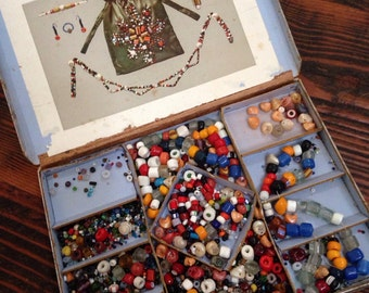 Vintage beading kit- yummy find!