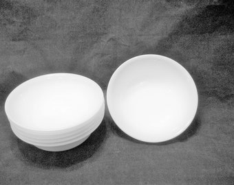 6 Corelle Winter Frost White Soup, Cereal, Ice Cream Bowls Vintage 1980s